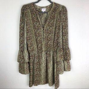 Parker Boho Gypsy Floral Silk Dress